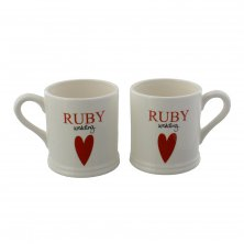 Wendy Jones Blackett Mug Gift Set - Ruby