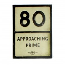 80th Birthday MPH Road Sign Plaque