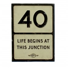 40th Birthday MPH Road Sign Plaque