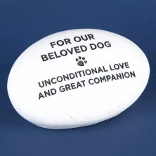 RSPCA Graveside Memorial Pebble - Dog