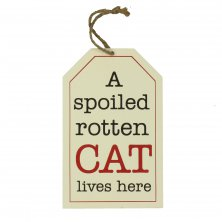 B-O-B Hanging Wall Plaque - Spoiled Rotten Cat