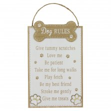 B-O-B Hanging Wall Plaque - Dog Rules