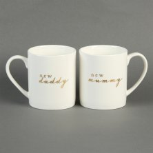 Bambino 2 Mug Gift Set - New Mummy and Daddy