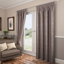 Carlton Taupe Ready made Curtains