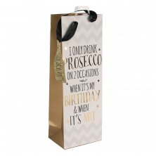 Signography Prosecco Bottle Gift Bag