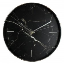 Hometime Wall Clock Black Marble Effect 30cm