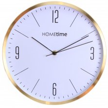 Hometime Wall Clock Gold Finish Arabic