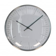 Widdop Wall Clock Silver Finish Baton Dial 25cm