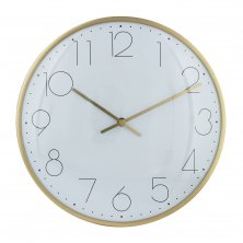 Widdop Wall Clock Gold Finish Arabic Dial 25cm