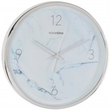White Marble Effect Hometime Large Wall Clock Arabic 35cm