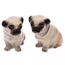 Novelty Pug Dog Salt & Pepper Set