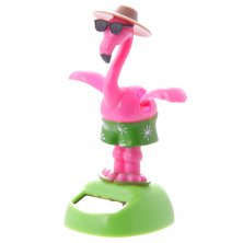 Flamingo with Sunglasses Solar Powered Flip Flap