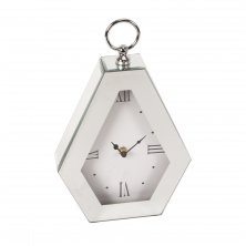 Hestia Mirror Glass Diamond Style Mantel Clock