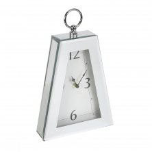Hestia Mirror Glass Pyramid Style Mantel Clock
