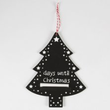 Days until Christmas Chalkboard Black & White