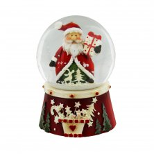 Santa Claus with Parcel Snow Globe