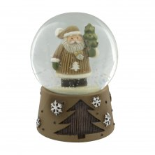 Santa Claus with Tree Snow Globe