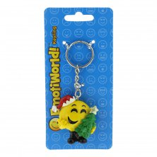 Emoti World Christmas Emoji Keyring Christmas Tree