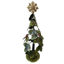 Christmas Metal Holly Tree