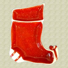 Ceramic Stocking Divided Dish