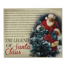 The Legend of Santa Claus Wall Plaque