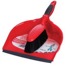 Dustpan and Brush Red Klean