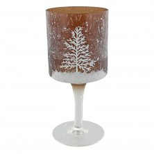 Woodland Goblet Christmas Tree Design Candle Holder