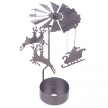 Reindeer & Santa Sleigh Tea Light Powered Spinning Decoration