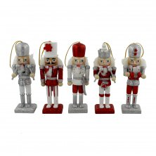 Merry & Bright Christmas Hanging Nutcrackers 5 Pack