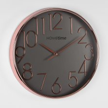 Hometime Rose Gold Round Wall Clock 30cm