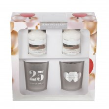 Colonial Candle Votive & Holder 25th Anniversary Gift Set
