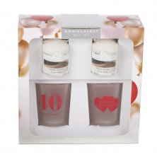 Colonial Candle Votive & Holder 40th Anniversary Gift Set