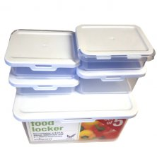 Wham 5 Piece Food Locker Tupperware Box Set
