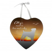 Reflections Of The Heart Mirror Heart Plaque Dog