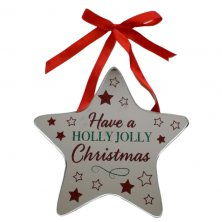 Have A Holly Jolly Christmas Star Plaque