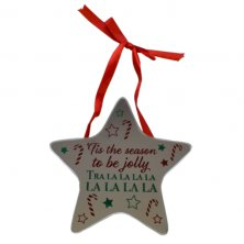 'Tis The Season To Be Jolly Star Plaque