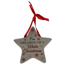 I'm Dreaming Of A White Christmas Star Plaque