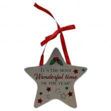 It's The Most Wonderful Time Of The Year Star Plaque