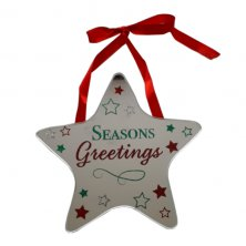 Seasons Greetings Star Plaque