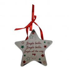Jingle Bells Star Plaque