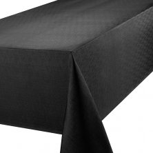 Black Linen Look EasycareTablecloths