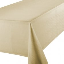 Latte Linen Look Easycare Tablecloths