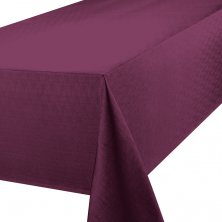 Purple Linen Look Easycare Tablecloths