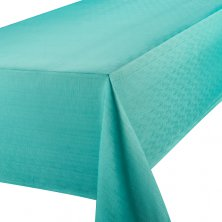 Teal Linen Look Easycare Tablecloths