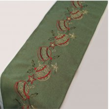 Baubles Embroidered Table Runner