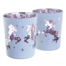 Set of 2 Unicorn Tealight Holders