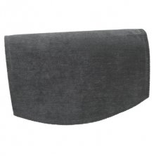 Chenille Grey Chair Back