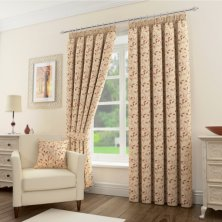 Sherwood Natural/Terracotta Ready Made Curtains