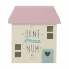 Love Life MDF Light Up House Box - Mum's House
