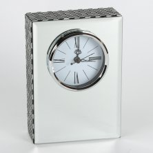 Hestia Glass Rectangular Mantel Clock